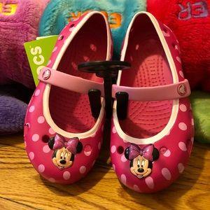 Brand new Pink Minnie crocs. Size 9